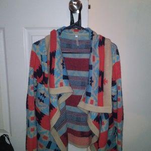 Aztec Sweater Shawl Thing